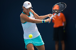 March 25, 2019 - Miami, FLORIDA, USA - Ashleigh Barty of Australia in action during her fourth-round match at the 2019 Miami Open WTA Premier Mandatory tennis tournament (Credit Image: © AFP7 via ZUMA Wire)