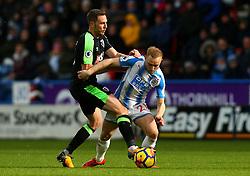 Alex Pritchard of Huddersfield Town takes on Dan Gosling of Bournemouth - Mandatory by-line: Robbie Stephenson/JMP - 11/02/2018 - FOOTBALL - The John Smith's Stadium - Huddersfield, England - Huddersfield Town v Bournemouth - Premier League