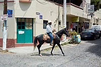 Mexican on horse, Ajijic, Jalisco, Mexico.