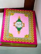 26 JULY 2013 - BANGKOK, THAILAND:   A Koran in Haroon Mosque in Bangkok, Thailand.        PHOTO BY JACK KURTZ