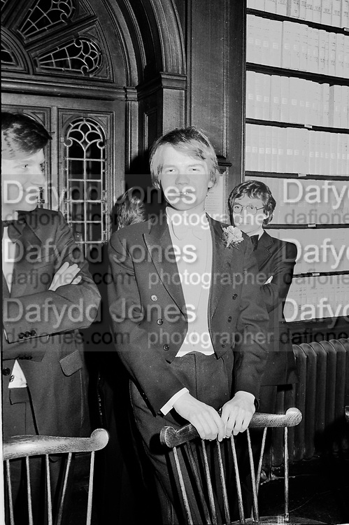 William Hague. Oxford Union. 1980.  © Copyright Photograph by Dafydd Jones 66 Stockwell Park Rd. London SW9 0DA Tel 020 7733 0108 www.dafjones.com