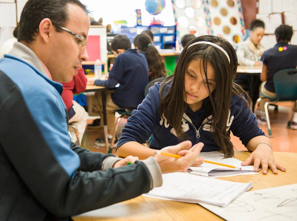 Students in Apollo 20 math tutoring at Walnut Bend Elementary school, February 6, 2013.