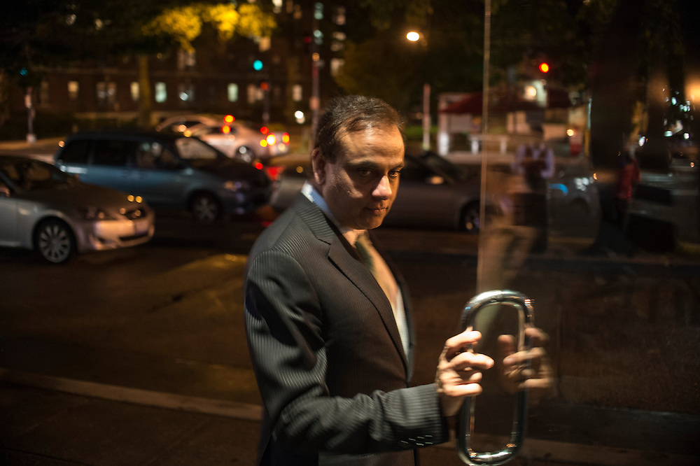 Photo by Matt Roth<br /> Assignment ID: 30142124A<br /> <br /> Restauranteur Ashok Bajaj leaves Ardeo Bardeo while making the nightly rounds of his restaurants in Washington, D.C. on Thursday, May 09, 2013.