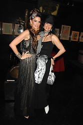 Left to right, sisters CHRISTINA ESTRADA JUFFALI and MICHELLE ESTRADA at Andy & Patti Wong's Chinese new Year party held at County Hall and Dali Universe, London on 26th January 2008.<br />