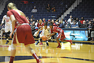 """Mississippi Lady Rebels guard A'Queen Hayes (3) and Alabama Crimson Tide guard Sharin Rivers (33) go for the ball at the C.M. """"Tad"""" Smith Coliseum in Oxford, Miss. on Sunday, January 11, 2015. (AP Photo/Oxford Eagle, Bruce Newman)"""