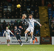 Ross County&rsquo;s Andrew Davies and Dundee&rsquo;s Rory Loy - Ross County v Dundee, Ladbrokes Premiership at Victoria Park<br /> <br />  - &copy; David Young - www.davidyoungphoto.co.uk - email: davidyoungphoto@gmail.com