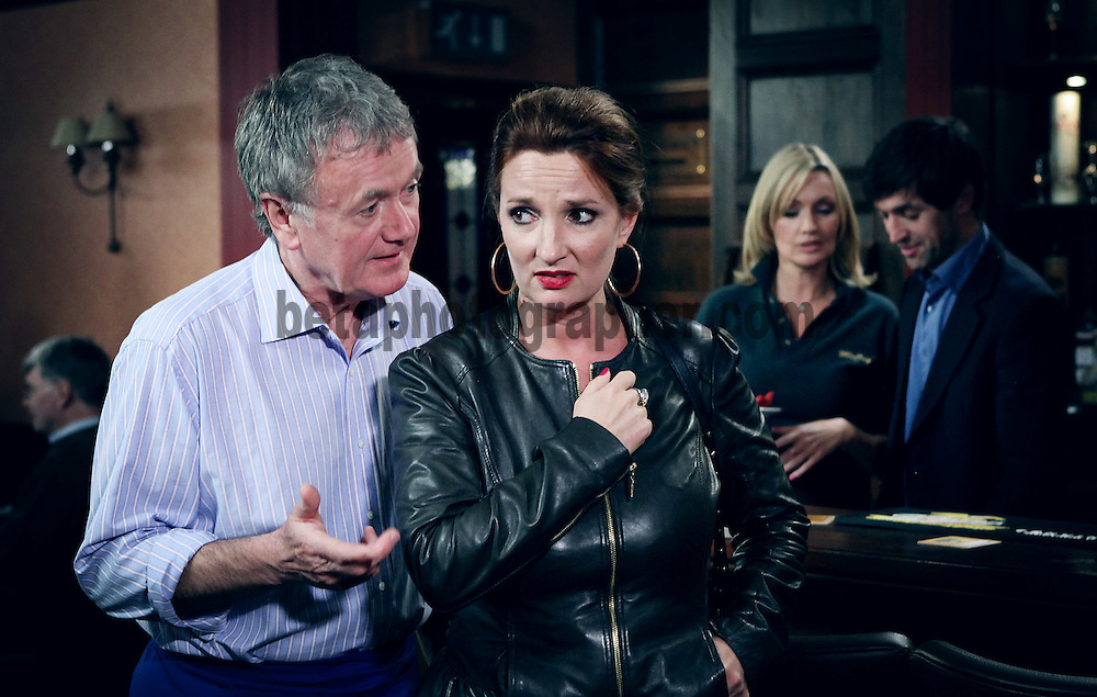 Fair City Eps 162<br /> TX: Wednesday October 17th, 2012<br /> Carol tentatively leaves Louie with Ingrid<br /> [L-R]<br /> Bob - Bryan Murray<br /> Carol - Aisling O'Neil<br /> Ingrid - Vivienne Connelly<br /> Louie - Alan Devine