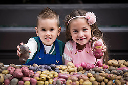 Repro Free: <br /> Jayden Whelan (age 6) from Swords and Malena Behan (age 6) from Palmerstown are pictured as Bord Bia, in conjunction with the Irish Potato Federation and the Irish Farmer&rsquo;s Association, welcome the return of National Potato Day this Friday, 3rd October. Much-loved by Irish families for generations, National Potato Day celebrates a reliable favourite that not only tastes delicious and is incredibly versatile, but also provides a naturally healthy option for meal times.<br /> For exciting and inspiring potato recipes, a chance to enter some great competitions and a list of National Potato Day events visit www.potato.ie. Picture Andres Poveda