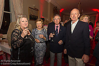 (l to r) Judy Ross-Murphy, Sandy Godkin, John Godkin, and Johnny Ross-Murphy at the reunion night to celebrate 50 years of the Irish Fireball Class, held at the Royal St George YC.