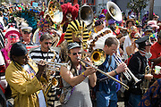 The Storyville Stompers et al join in the celebration of Mardi Gras in the French Quarter and Faubourg Marigny of New Orleans