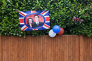 Neighbours and friends in Burbage Road, Dulwich south London, celebrate the royal wedding of Prince William and Kate Middleton (now called the Duke and Duchess of Cambridge). Across the UK, 5,500 formal road closures (825 in London) were arranged with local authorities and residents held traffic-free events, the like of which haven't been seen since the ill-fated wedding of Charles and Diana in 1981 - in the traditions of Victorian and end of war eras. .