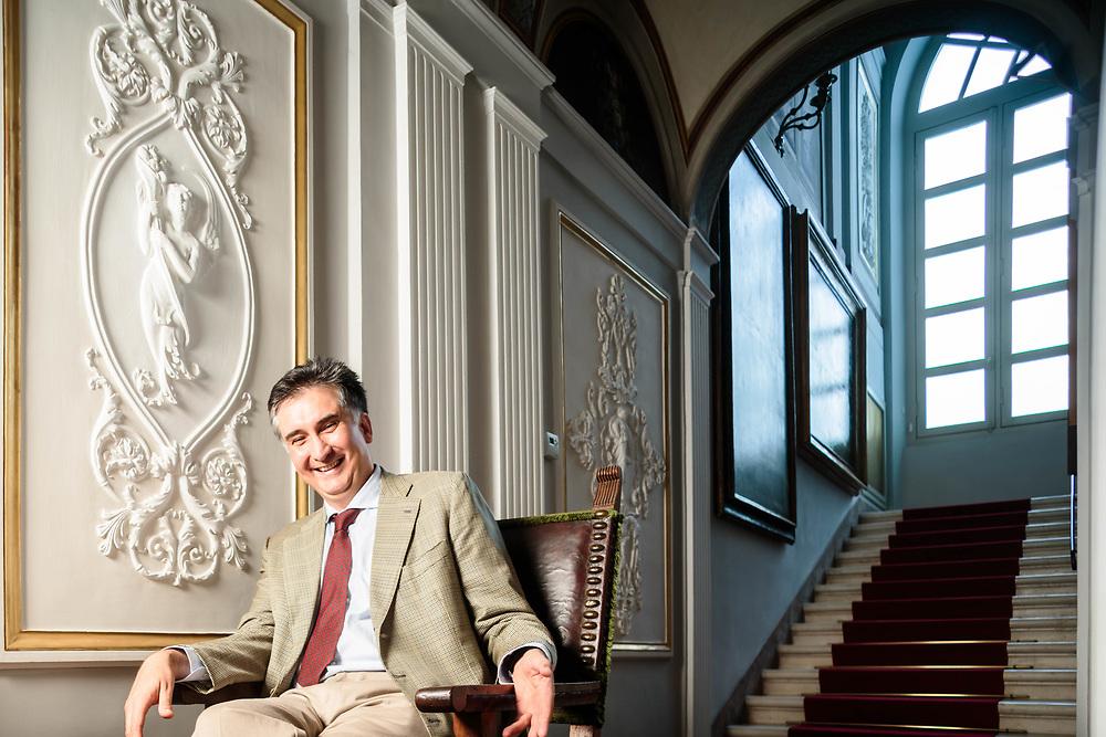 11 SEP 2015 - Spoleto (PG) - Il marchese Duccio Marignoli di Montecorona, nel palazzo Marignoli.