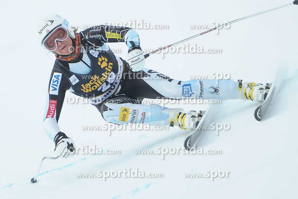 07.12.2012, Engiadina Rennstrecke, St. Moritz, SUI, FIS Ski Alpin Weltcup, Super Combination, Damen, Super G, im Bild Julia Mancusa (USA) // during Super G of ladies Super Combined of FIS ski alpine world cup at the Engiadina course, St. Moritz, Switzerland on 2012/12/ 07. EXPA Pictures © 2012, PhotoCredit: EXPA/ Freshfocus/ Andreas Meier..***** ATTENTION - for AUT, SLO, CRO, SRB, BIH only *****