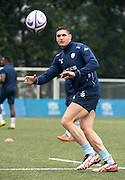 Second rower JUANDRÉ KRUGER of French rugby union team, Racing 92 from Paris, during training in Hong Kong. They are preparing ahead of their upcoming match against New Zealand's Super League team, The Highlanders