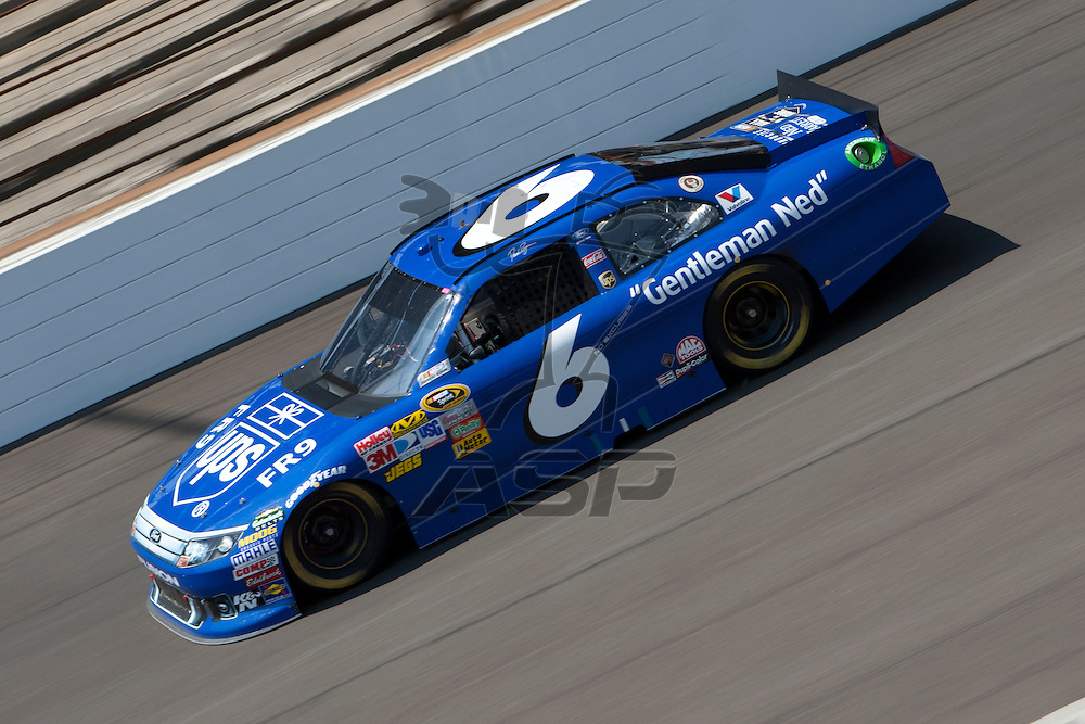 Speedway, IN  - JUL 31, 2011: David Ragan (6) races to turn one for the Brickyard 400 presented by BigMachineRecords.com at Indianapolis Motor Speedway in Speedway, IN.