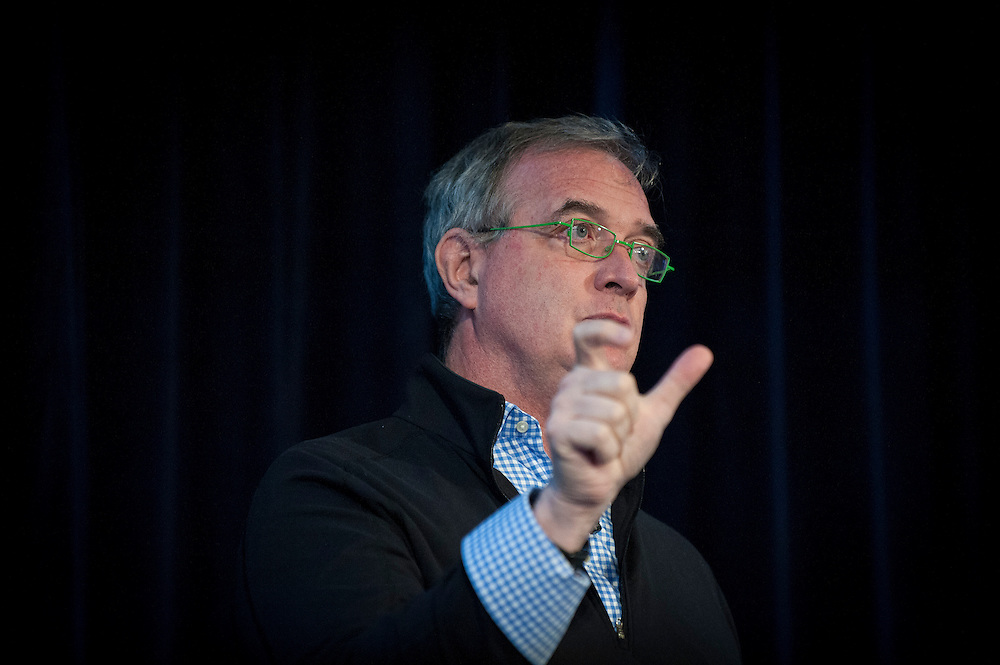 """Dr. Stephen Friend, President of Sage Bionetworks, delivers a keynote address at DARPA's """"Biology Is Technology"""" symposium in New York City on June 23, 2015. The two-day event was held by DARPA's Biological Technologies Office to bring together leading-edge technologists, start-ups, industry, and academic researchers to look at how advances in engineering and information sciences can be used to drive biology for technological advantage."""