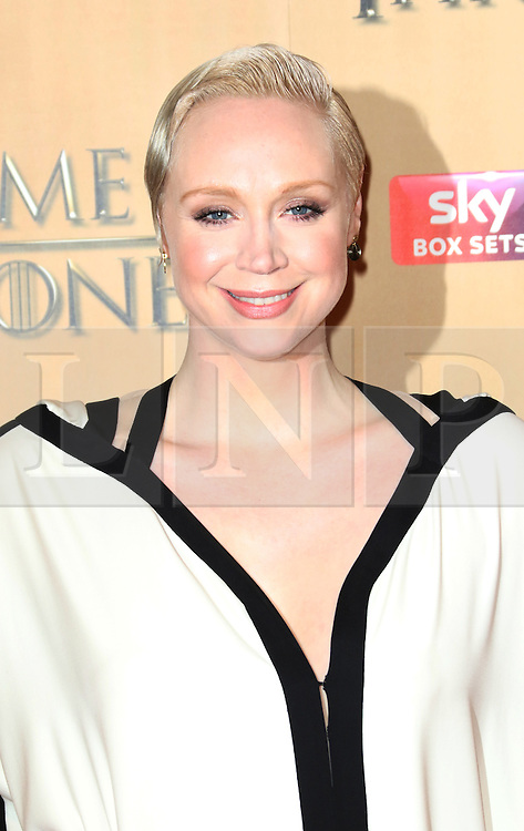 © Licensed to London News Pictures. 18/03/2015, UK. Gwendoline Christie (Brienne of Tarth), Game of Thrones - Series Five World Premiere, Tower of London, London UK, 18 March 2015. Photo credit : Richard Goldschmidt/Piqtured/LNP