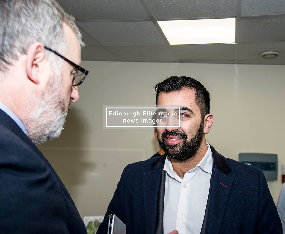 Pictured: Pete Reid, Growth & Investment Manager and Hamza Yousef<br /> Transport minister Humza Yousaf MSP opened Falkirk's active travel hub. The resource will encourage people to make healthier, greener travel choices. <br /> <br /> <br /> Ger Harley | EEm 6 February 2018
