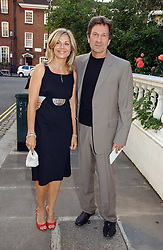 Actor MICHAEL BRANDON his wife actress GLYNIS BARBER at Sir David & Lady Carina Frost's annual summer party held in Carlyle Square, Chelsea, London on 5th July 2006.<br /><br />NON EXCLUSIVE - WORLD RIGHTS