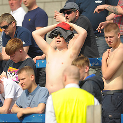 TELFORD COPYRIGHT MIKE SHERIDAN 22/4/2019 - Bucks fans soak up the bank holiday sunshine during the Vanarama Conference North fixture between AFC Telford United and Alfreton Town at the New Bucks Head