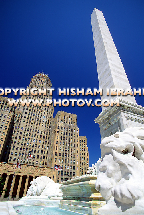 Buffalo City Hall at Niagara Square, Buffalo, New York State, USA