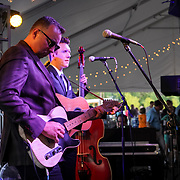 Cardinal Health RBC 2019 Customer Appreciation Night Music Festival music and BBQ tent. Nathen Belt and the Buckles. Photo by Alabastro Photography.