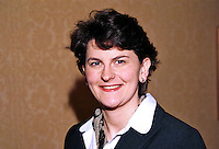 Arlene Foster, Enniskillen, N Ireland, UK, prominent member, Ulster Unionist Party. Ref: 199910302, Taken at Unionist Party Conference, Enniskillen, N Ireland, in October 1999.<br />