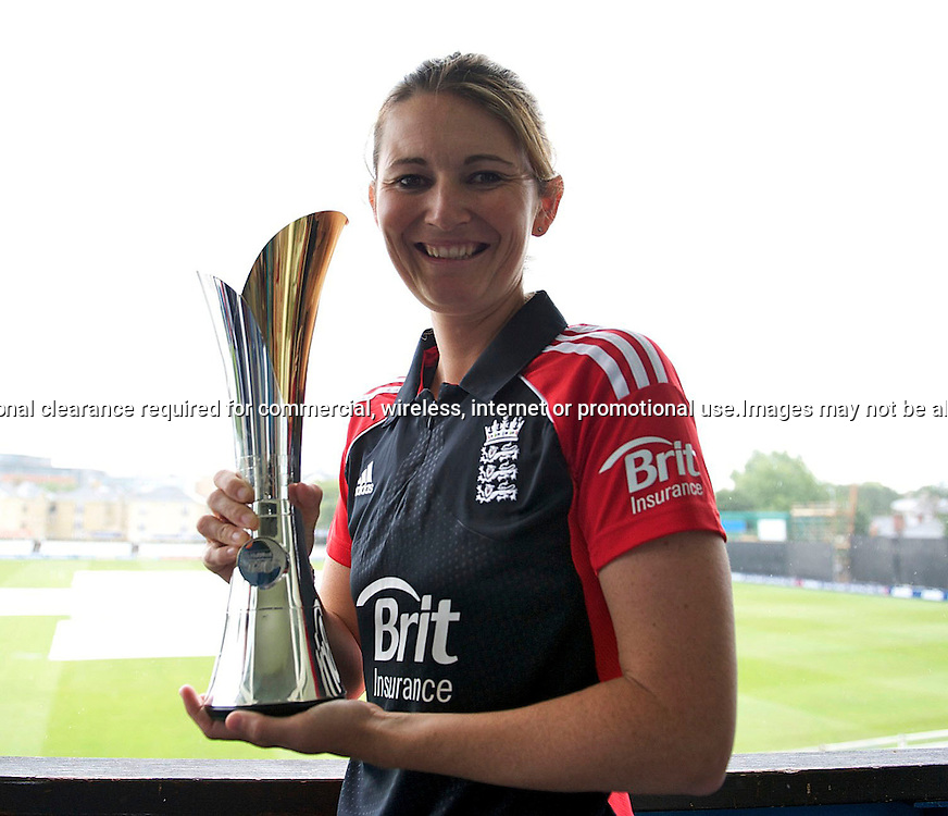 22.6.2011. Charlotte Edwards, England Women's cricket captain at the  NatWest Women's Quadrangular Series between England, Australia, New Zealand and India, Launch at Essex CCC, The Ford County Ground, Chelmsford, Essex, England. 22 June 2011. Photo Michael Paler/ Photosport.co.nz
