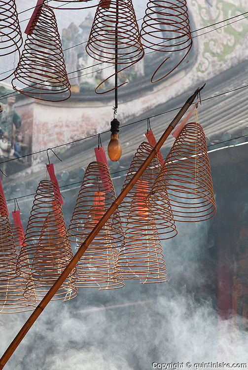 """Chùa Bà Thiên H?u (The Pagoda of the Lady Thien Hau) is a Chinese style temple located on Nguyen Trai Street in the Cho Lon (Chinatown) district of Ho Chi Minh City, Vietnam. It is dedicated to Thiên H?u, the Lady of the Sea (""""Tian Hou"""" as transcribed from the Chinese), who is also known as """"Mazu""""."""