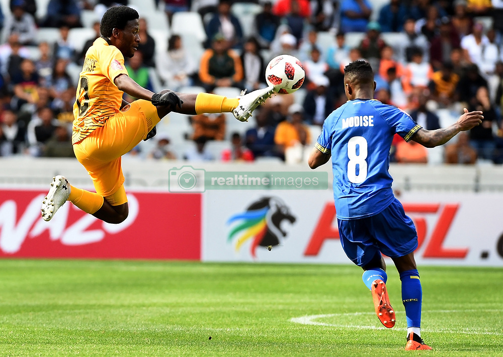 Cape Town-180915- Kaizer Chiefs midfielder Sphelele Ntshangase challenged by Cape Town City's Teko Modise in the ABSA Premiership clash at the cape Town Stadium.Chiefs had  their first win of the season,when they trashed City 4-1.Photographs:Phando Jikelo/African News Agency/ANA