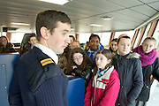 05/12/2013 Scoil Mhuire Oranmore Galway on the Marine Institute's Flagship research vessel The Celtic Explorer .Photo:Andrew Downes.