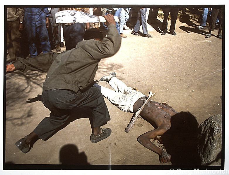 Copy of a vintage print by Joao Silva. Boipatong township. Vaal, SDU gathers in day's after massacre of 41 people.