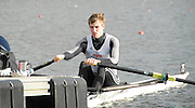 Eton, GREAT BRITAIN,  Carl DELANEY, LM1X, prepares for the Start, GB Trials 3rd Winter assessment at,  Eton Rowing Centre, venue for the 2012 Olympic Rowing Regatta, Trials cut short due to weather conditions forecast for the second day Sunday  13/02/2011   [Photo, Karon Phillips/Intersport-images]