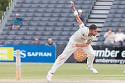 Matt Taylor bowling during the Specsavers County Champ Div 2 match between Gloucestershire County Cricket Club and Leicestershire County Cricket Club at the Cheltenham College Ground, Cheltenham, United Kingdom on 18 July 2019.