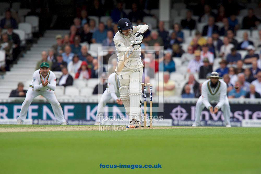 Toby Rowland-Jones of England batting during the 100th Investec Test Match match at the Kia Oval, London<br /> Picture by Alan Stanford/Focus Images Ltd +44 7915 056117<br /> 28/07/2017