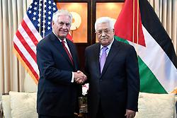May 3, 2017 - Washington, DC, United States of America - U.S. Secretary of State Rex Tillerson greets Palestinian Authority President Mahmoud Abbas before bilateral talks May 3, 2017 in Washington, D.C. (Credit Image: © Glen Johnson/Planet Pix via ZUMA Wire)