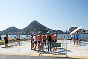 Rio de Janeiro. BRAZIL.   2016 Olympic Rowing Regatta. Lagoa Stadium,<br /> Copacabana,  &ldquo;Olympic Summer Games&rdquo;<br /> Rodrigo de Freitas Lagoon, Lagoa. Local Time 15:41:50   Friday  05/08/2016 <br /> <br /> [Mandatory Credit; Peter SPURRIER/Intersport Images]