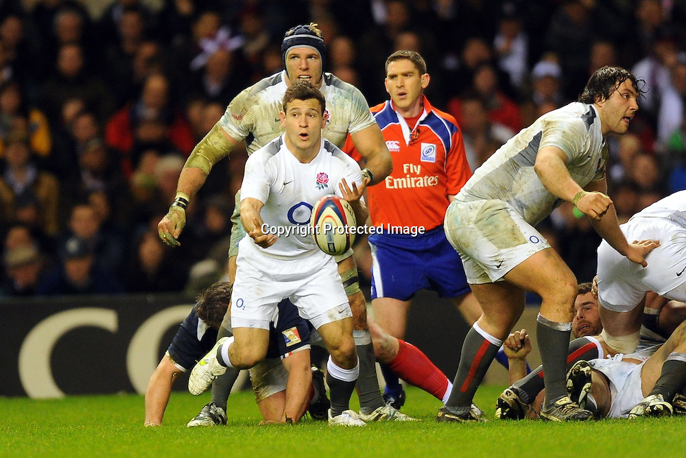 Rugby : Angleterre / France - Tournoi des VI Nations - 26.02.2011 - Danny Care (Angleterre) *** Local Caption *** 00044519