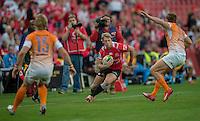 EMIRATES AIRLINE PARK, SOUTH AFRICA - APRIL 25:  Ruan Combrinck of the Lions in action during the Vodacom Super Rugby match between the Emirates Lions and the Toyota Cheetahs played at Emirates Airline Park, Johannesburg, South Africa. (Photo by Anton Geyser/ Rugby 15/SASPA)