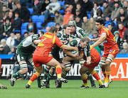 Reading, GREAT BRITAIN, Exiles, Phil MURPHY, breaking with the ball through midfield, during the Heineken, Quarter Final, Cup rugby match,  London Irish vs Perpignan, at the Madejski Stadium on Sat 05.04.2008 [Photo, Peter Spurrier/Intersport-images]