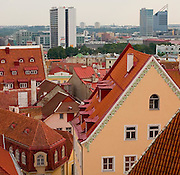 Scene of the city of Tallin in Estonia
