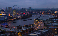 A view of the London skyline from atop St. Pauls Cathedral dome.