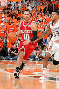 March 7, 2009: Javier Gonzalez of the North Carolina State Wolfpack in action during the NCAA basketball game between the Miami Hurricanes and the North Carolina State Wolfpack. The 'Canes defeated the Wolfpack 72-64.
