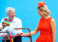 15-11-2013 Sint Eustatius  Dutch King Willem Alexander en Queen Maxima at Sint Eustatius they visit the buggy bee school  . They will visit all the 6 Dutch Islands the next 10 days . The royal couple will visit the Caribbean . COPYRIGHT ROBIN UTRECHT