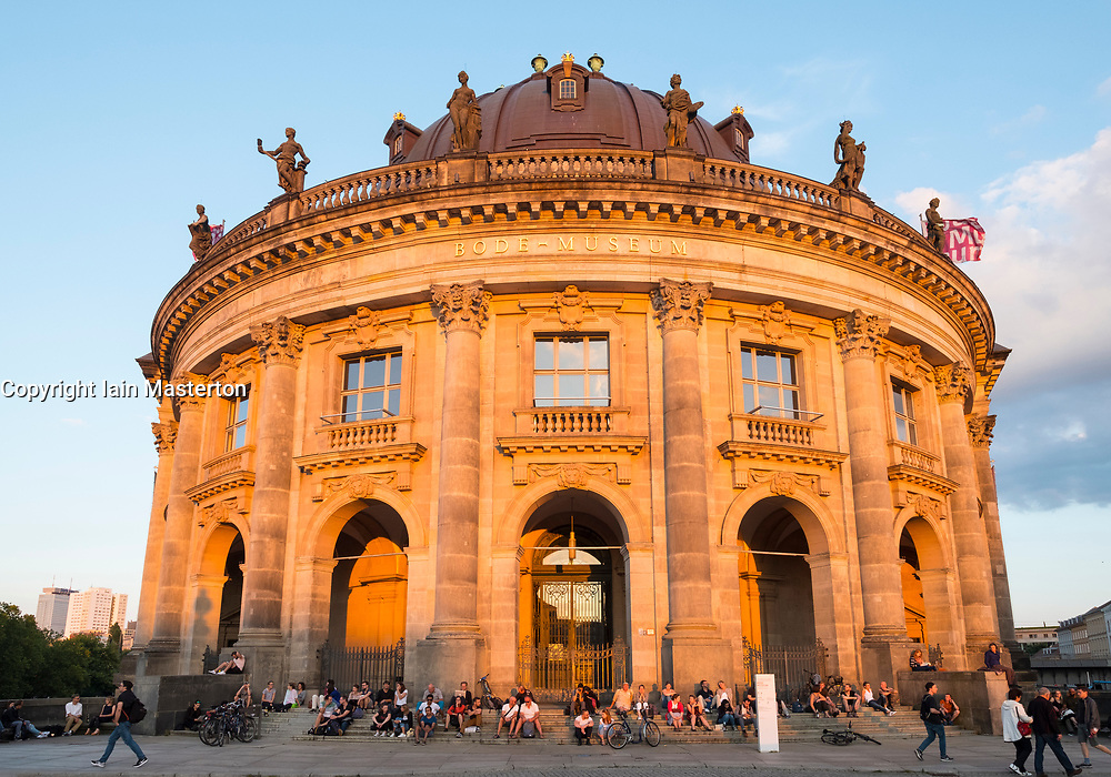 Late summer afternoon sun shining on Bode Museum  on Museum Island in Berlin, Germany