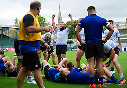 Tom Dunn celebrates a late try from team-mate Sam Underhill, Bath Rugby were allowed to start Stage Two of the Premiership Rugby return to play protocol - Mandatory byline: Patrick Khachfe/JMP - 07966 386802 - 06/08/2020 - RUGBY UNION - The Recreation Ground - Bath, England - Bath Rugby training