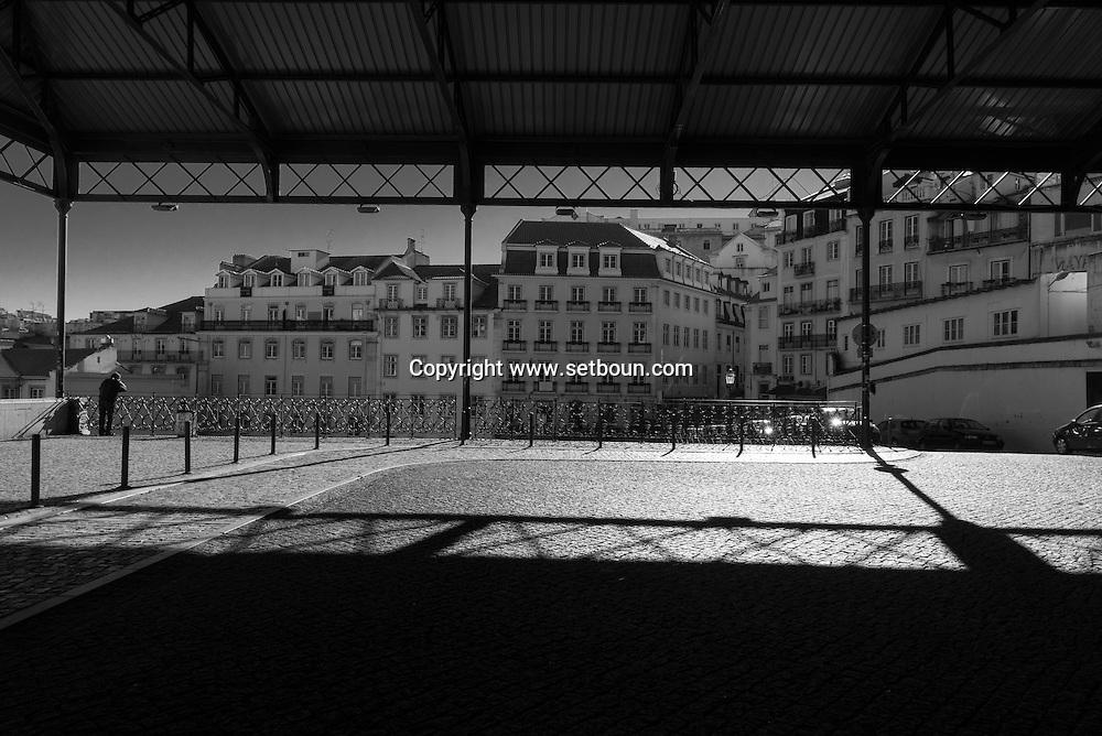 Portugal. Lisbon. Rossio district, Rossio railway station upper level