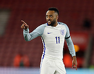 England's Nathan Redmond accuses Italy's Antonio Barreca (out of shot) of diving during the Under 21 International Friendly match at the St Mary's Stadium, Southampton. Picture date November 10th, 2016 Pic David Klein/Sportimage