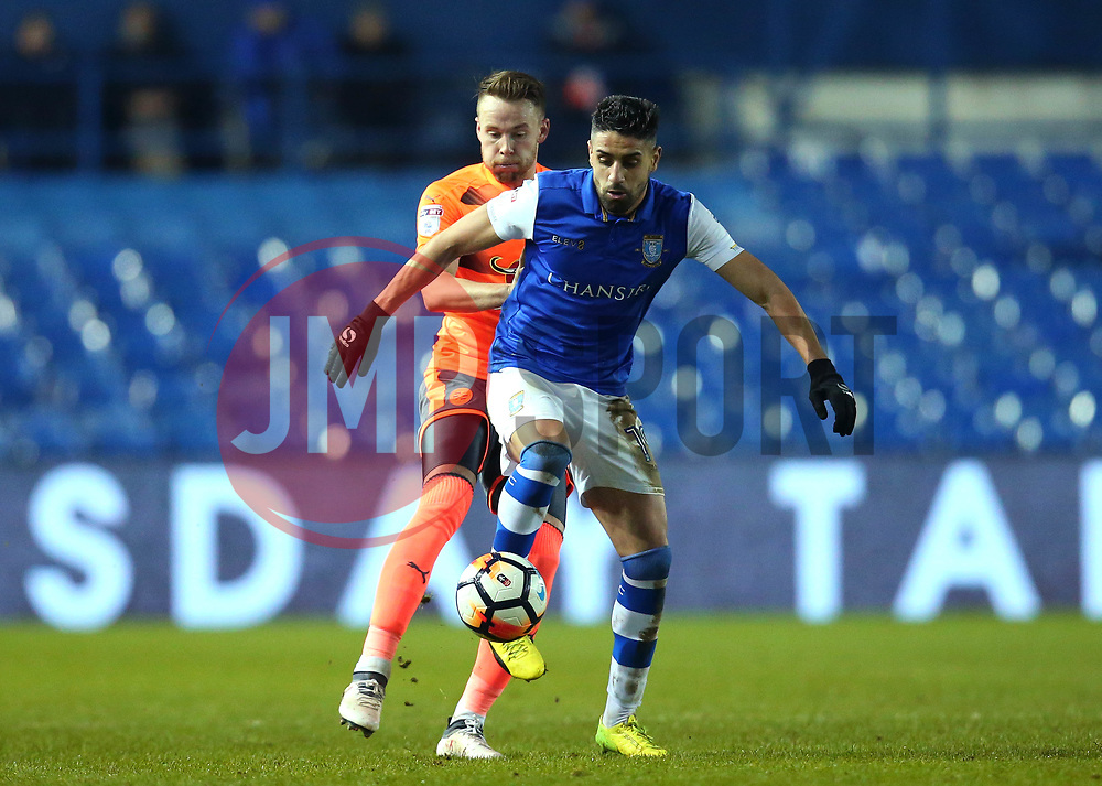 Marco Matias of Sheffield Wednesday takes on Chris Gunter of Reading - Mandatory by-line: Robbie Stephenson/JMP - 26/01/2018 - FOOTBALL - Hillsborough - Sheffield, England - Sheffield Wednesday v Reading - Emirates FA Cup fourth round proper