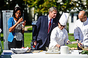 (photo by Matt Roth).Wednesday, October 21, 2009.Assignment ID: 30087135A..Before becoming the assistant White House chef, Sam Kass was the Obamas' personal chef. The twenty-nine-year-old helps out at The White House Healthy Kids Fair on the South Lawn Wednesday, October 21, 2009.